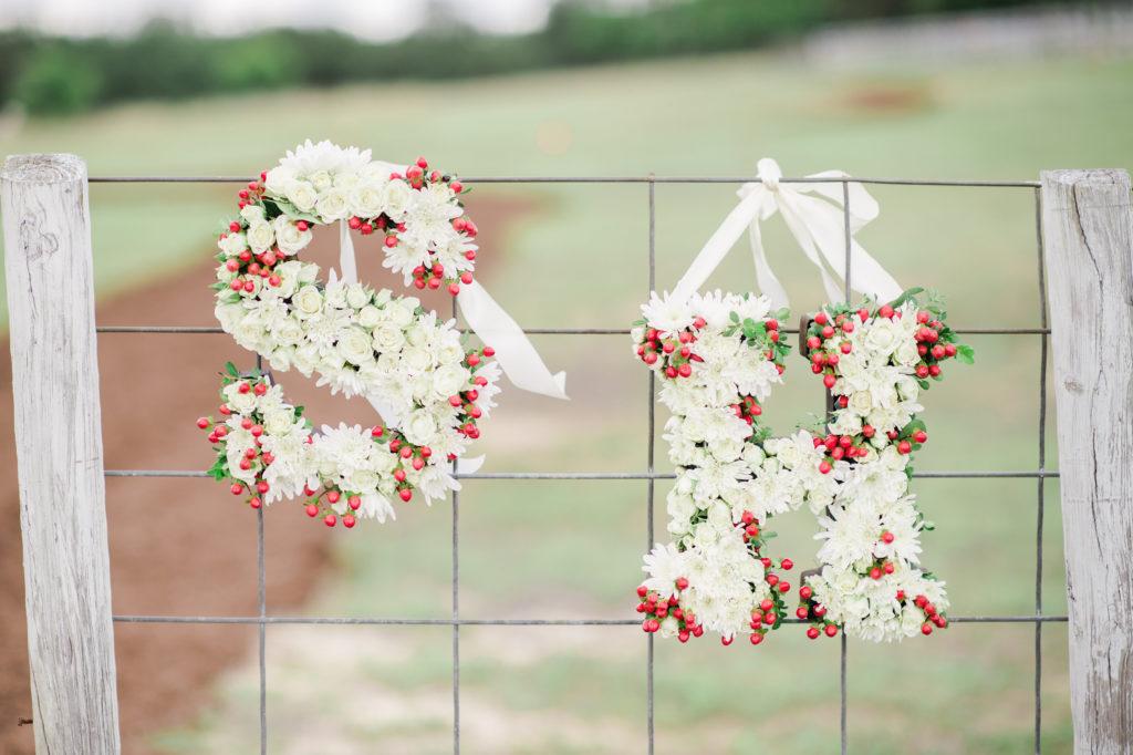 Floral Monogram Wedding Letter