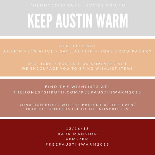 KEEP AUSTIN WARM DETAILS