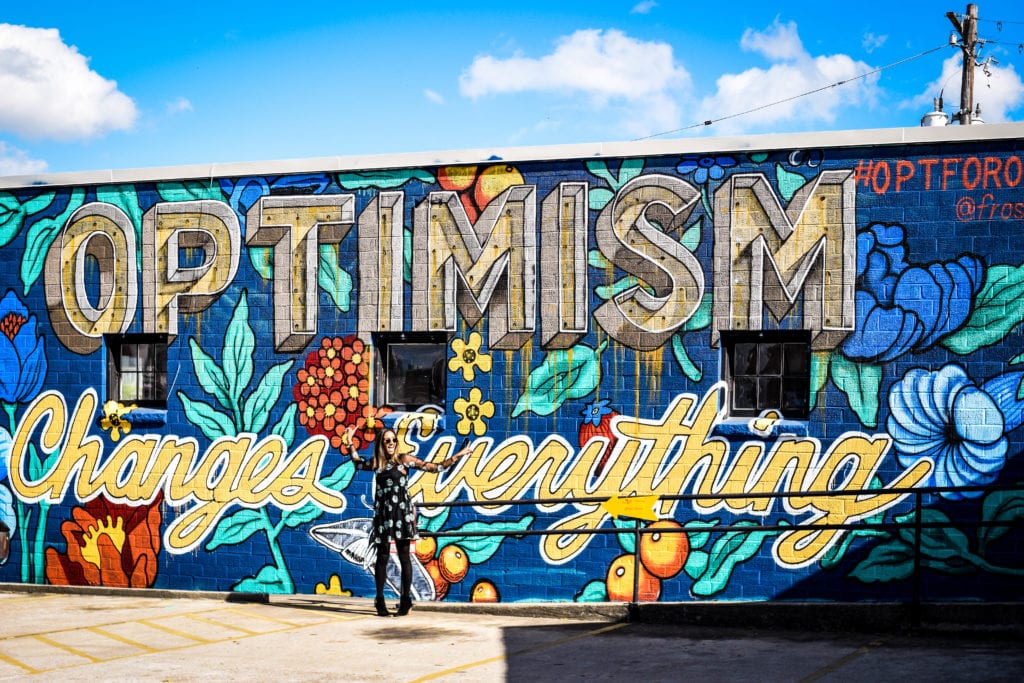 New #OptforOptimism Austin Mural by CultureMap Austin and Frost Bank Promotes Optimism