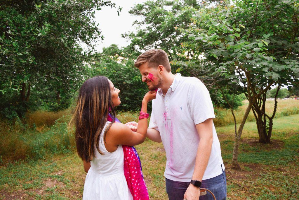 Pink Holi Powder Gender Reveal