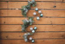 Modern Holiday Wreath DIY Tutorial