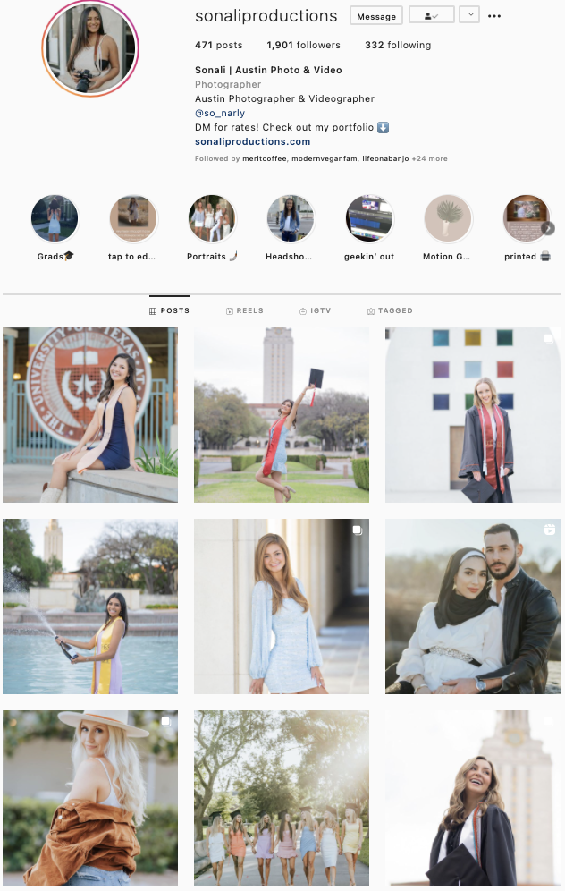 Sonali Productions Instagram